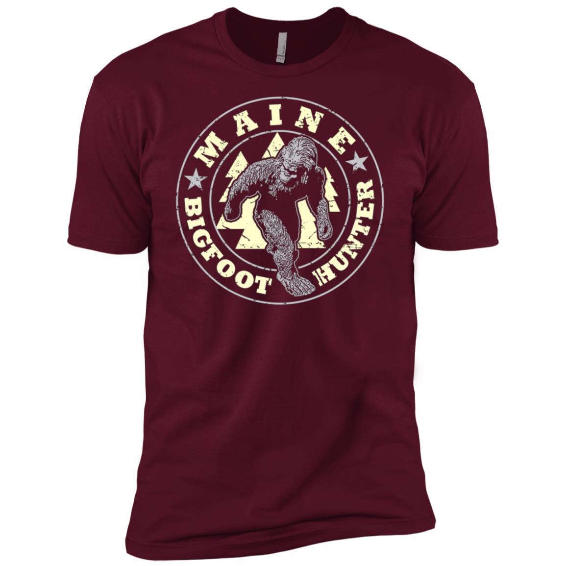 Maine Bigfoot Hunter Believe Men Short Sleeve T-Shirt