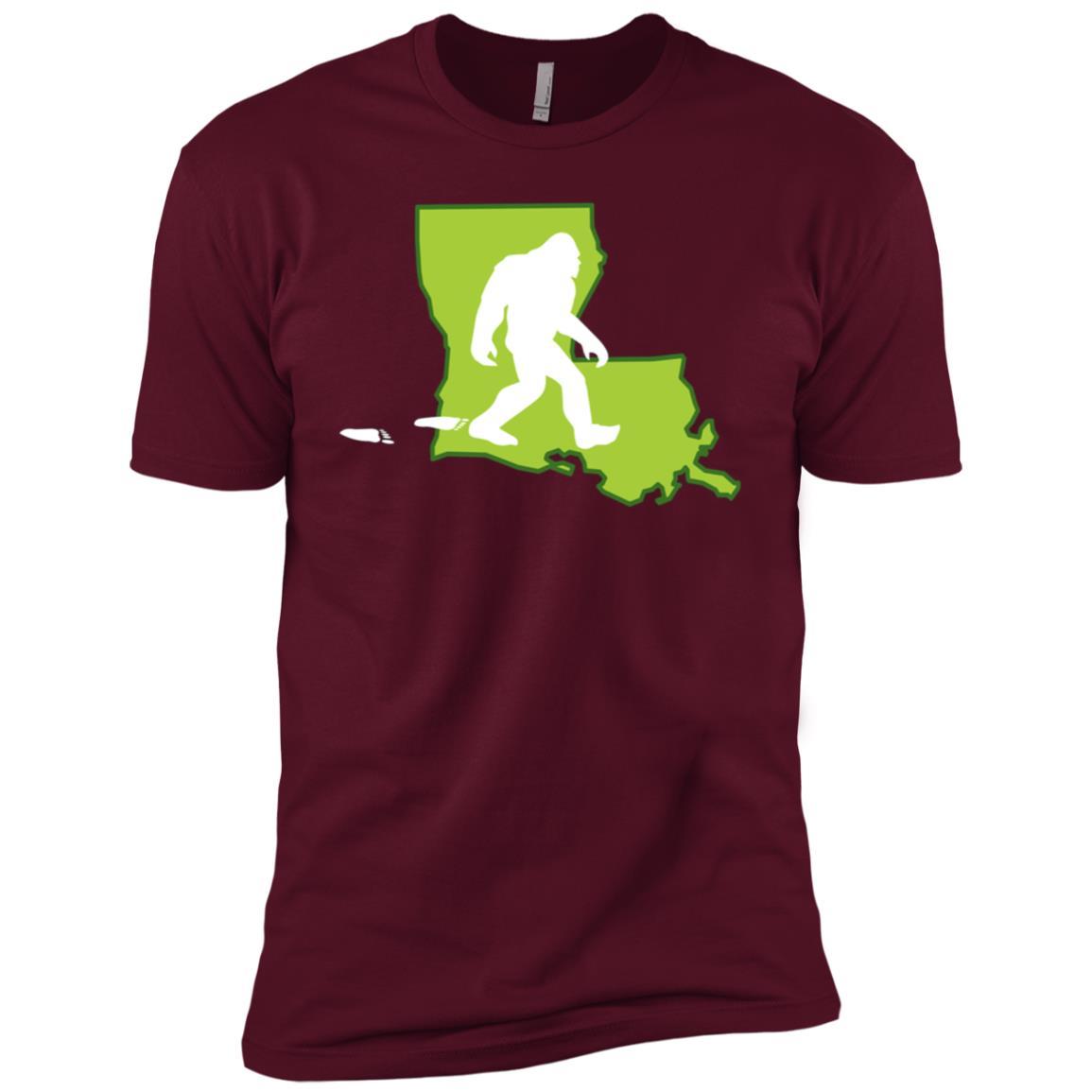 Louisiana State Bigfoot Hunter Men Short Sleeve T-Shirt