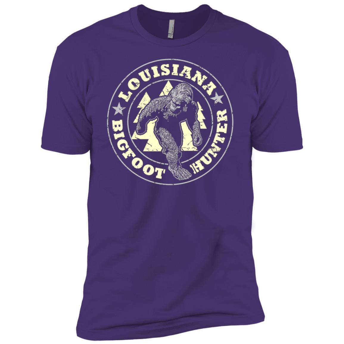 Louisiana Bigfoot Hunter Believe Men Short Sleeve T-Shirt