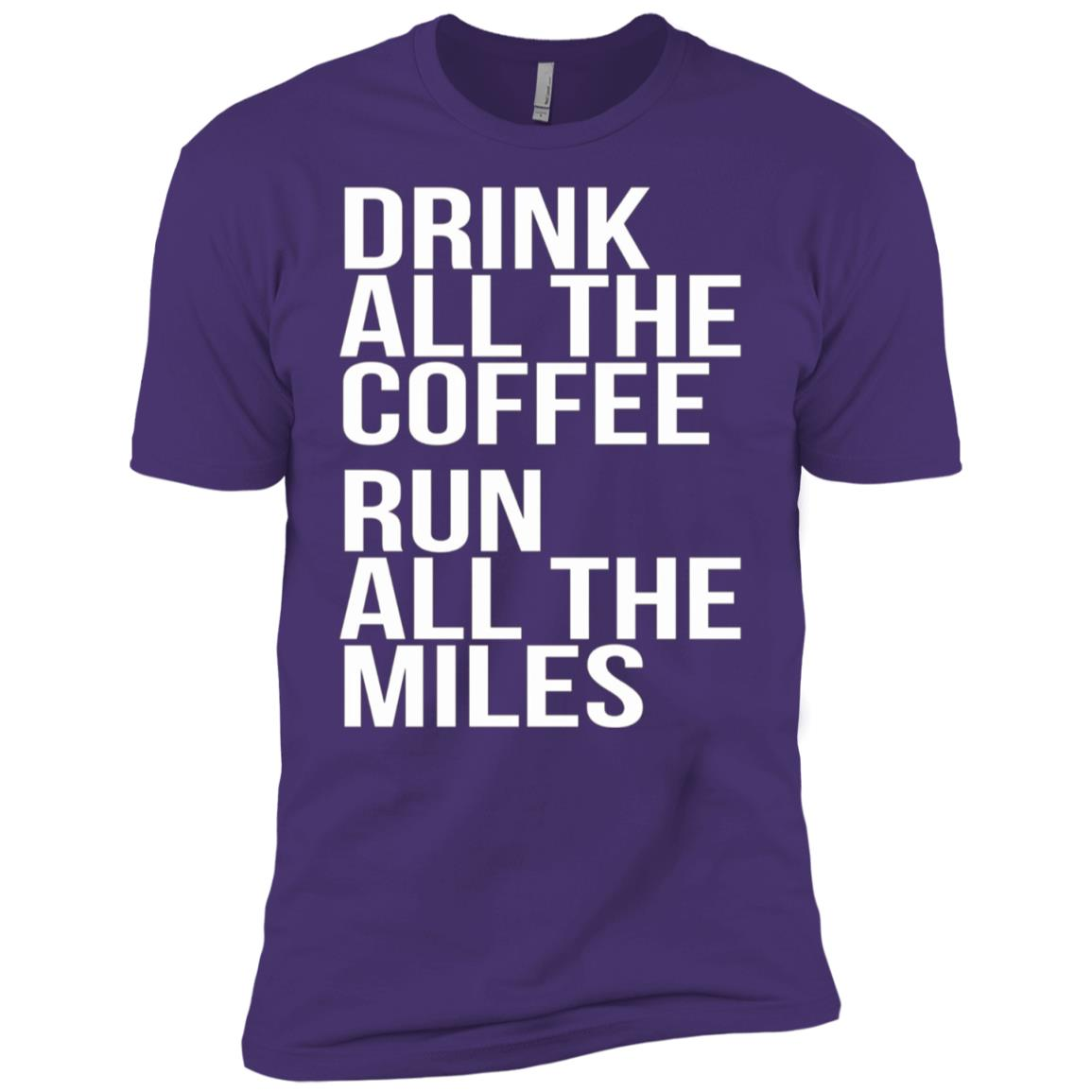 Drink All The Coffee Run All The Miles Marathon Men Short Sleeve T-Shirt