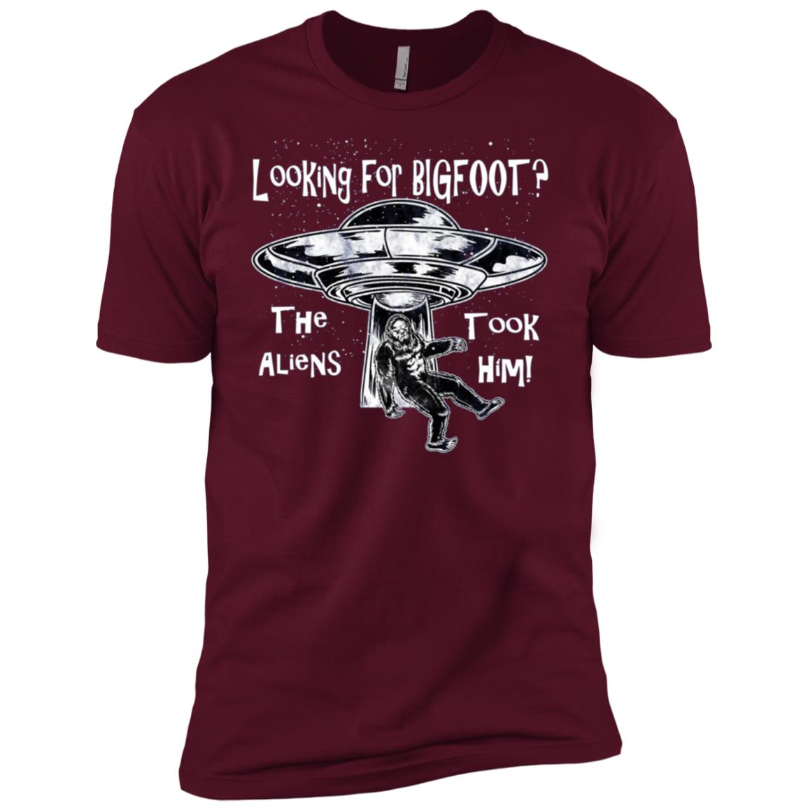 Looking For Bigfoot – The Aliens Took Him Men Short Sleeve T-Shirt