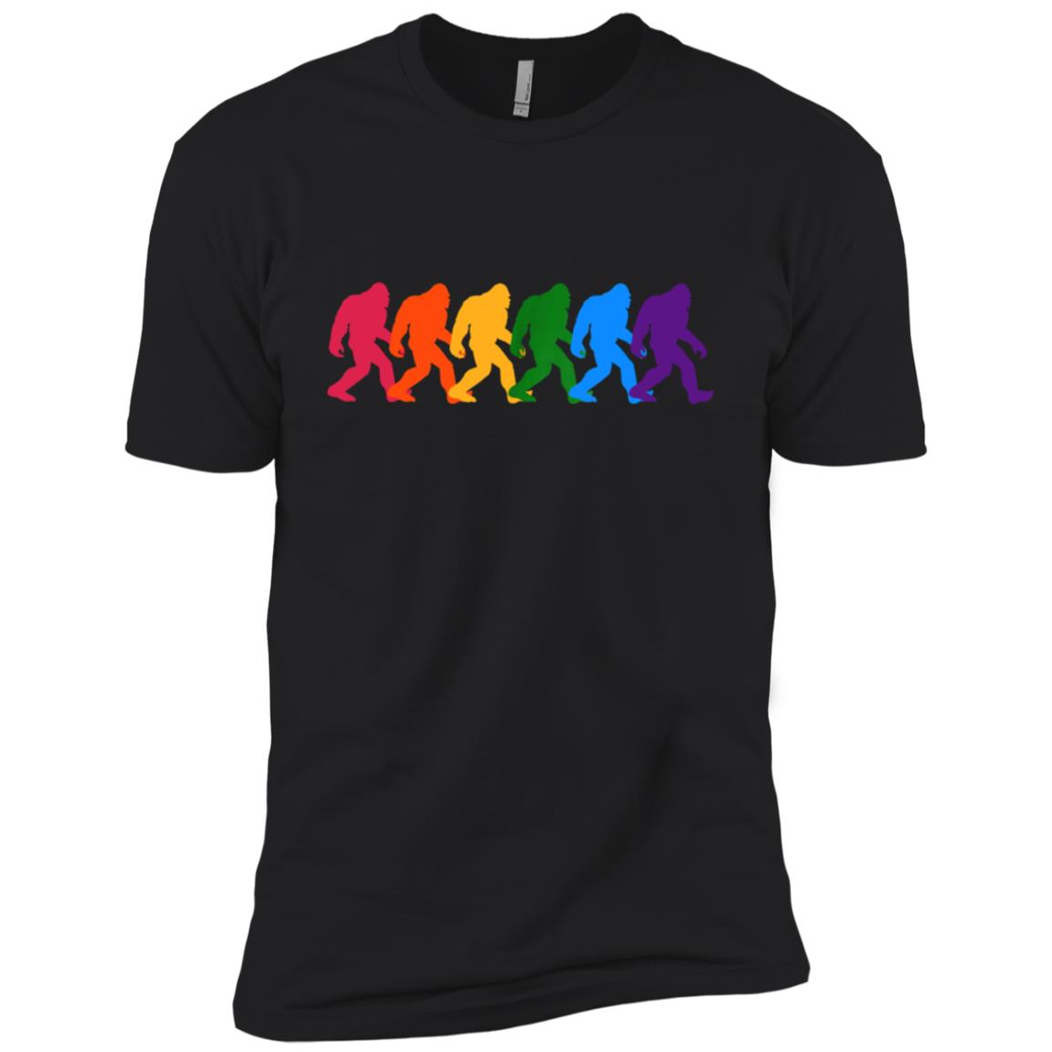 LGBT Bigfoot Gay Pride Vintage Retro Men Short Sleeve T-Shirt