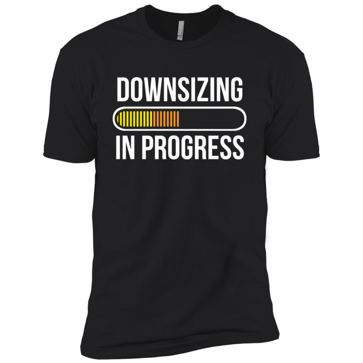 Downsizing In Progress Funny Workout For Gym Men Short Sleeve T-Shirt