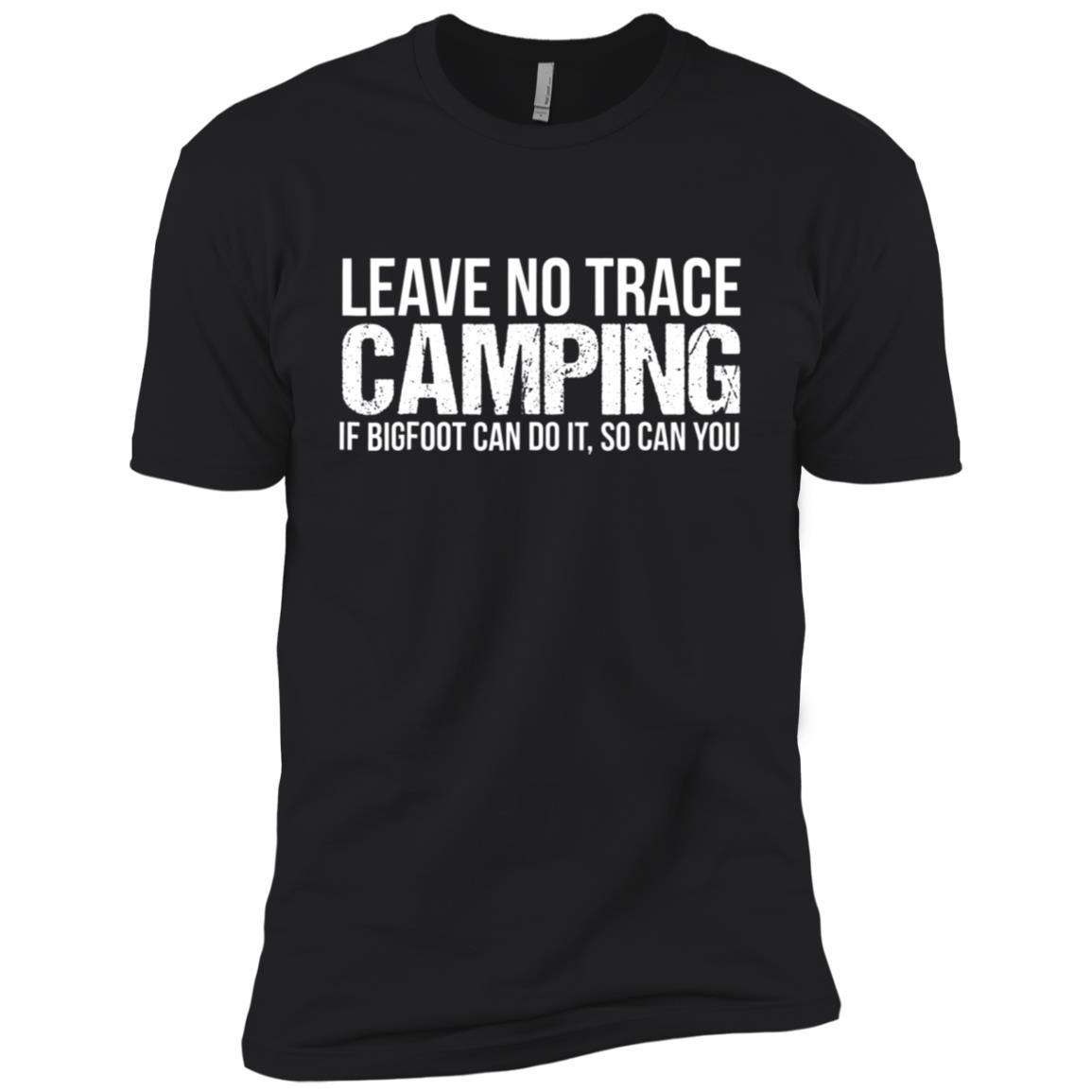 Leave No Trace Camping – Bigfoot Can Do It Men Short Sleeve T-Shirt