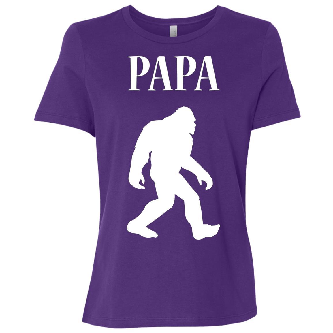 Mens PAPA BEAR SHIRT BIGFOOT FATHERS, DAD, DAD'S BIRTHDAY GIFT Women Short Sleeve T-Shirt