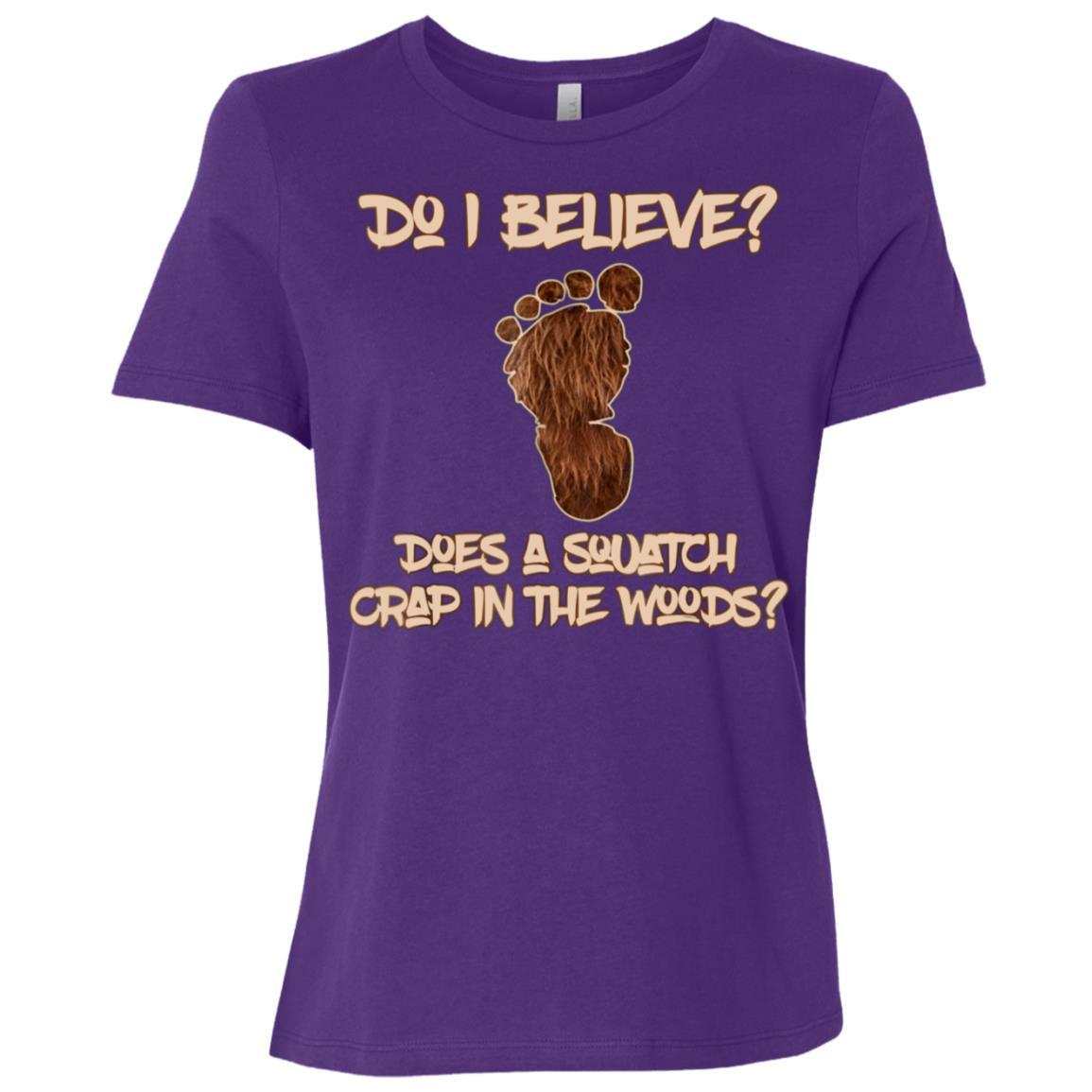 Mens Funny Believers Bigfoot Sasquatch Yeti Search Women Short Sleeve T-Shirt