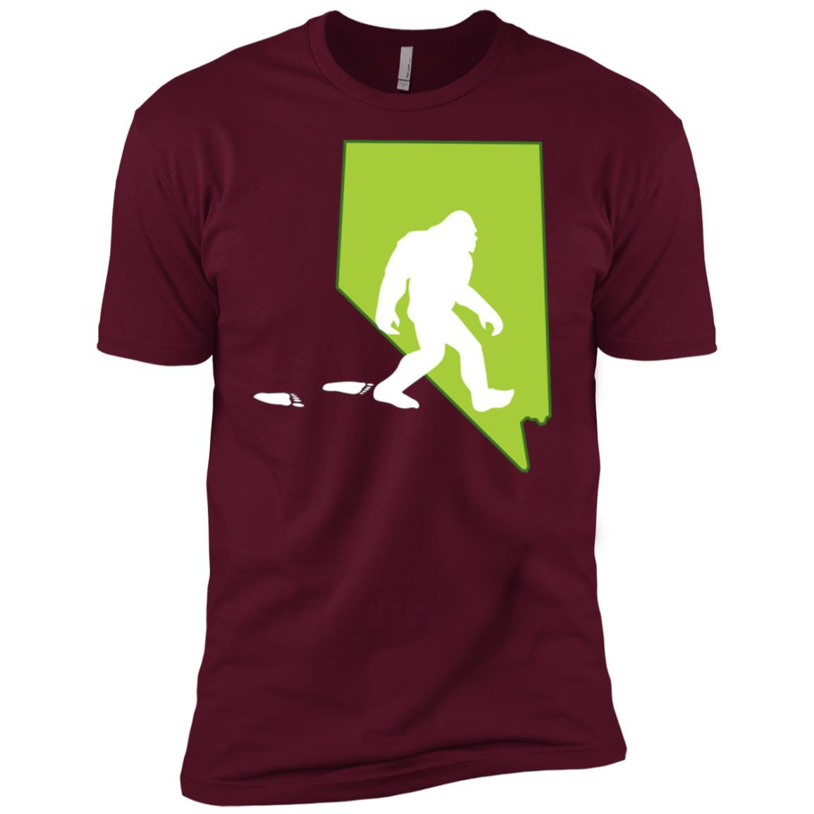 Nevada State Bigfoot Hunter Men Short Sleeve T-Shirt
