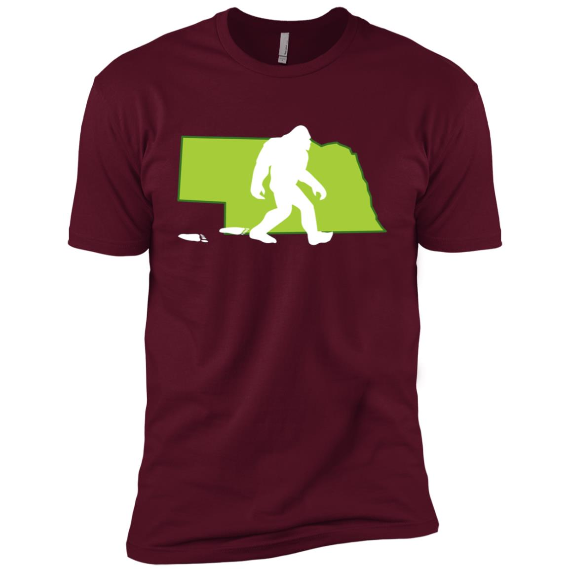 Nebraska State Bigfoot Hunter Men Short Sleeve T-Shirt