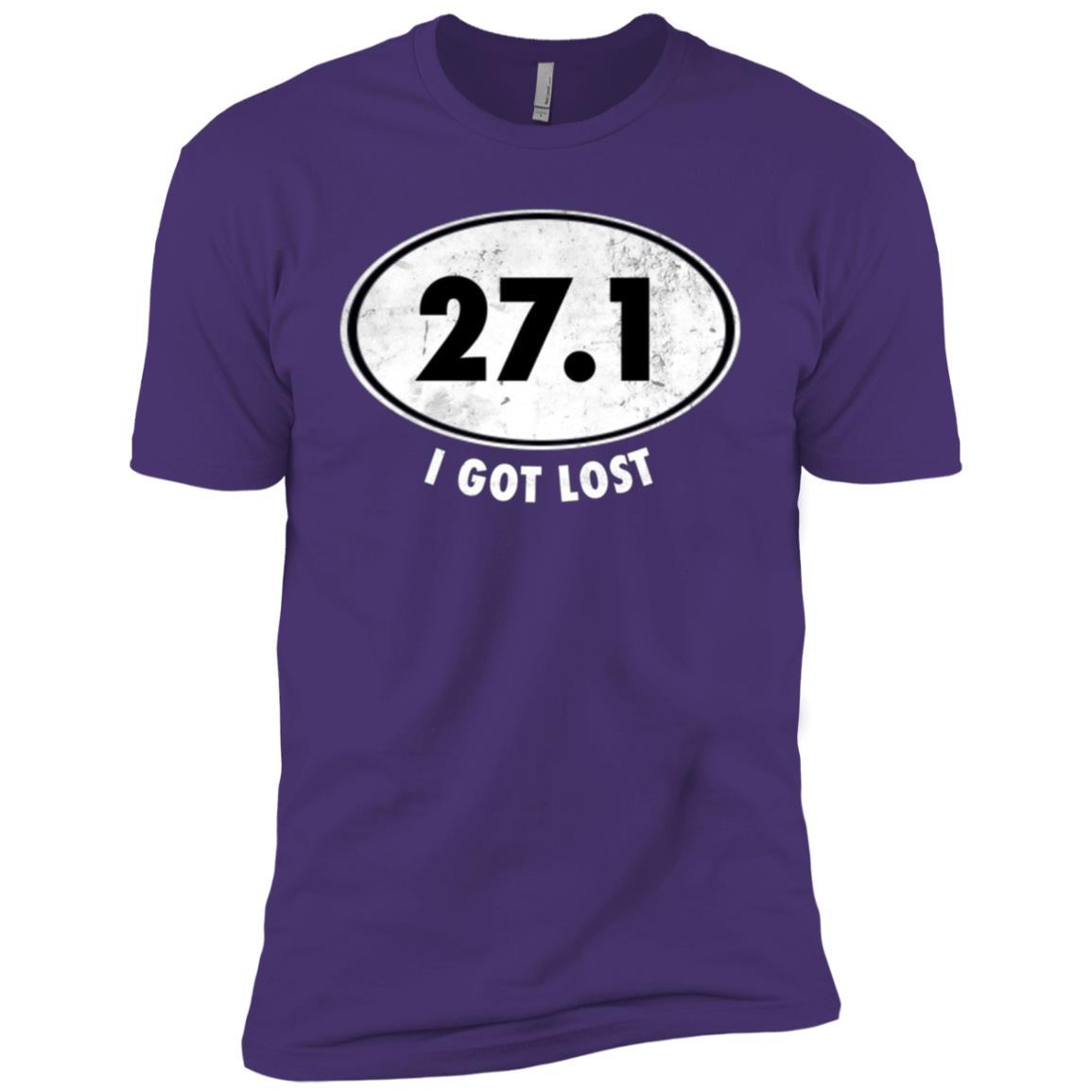 27.1 I Got Lost Funny Marathon Runner Tee Men Short Sleeve T-Shirt