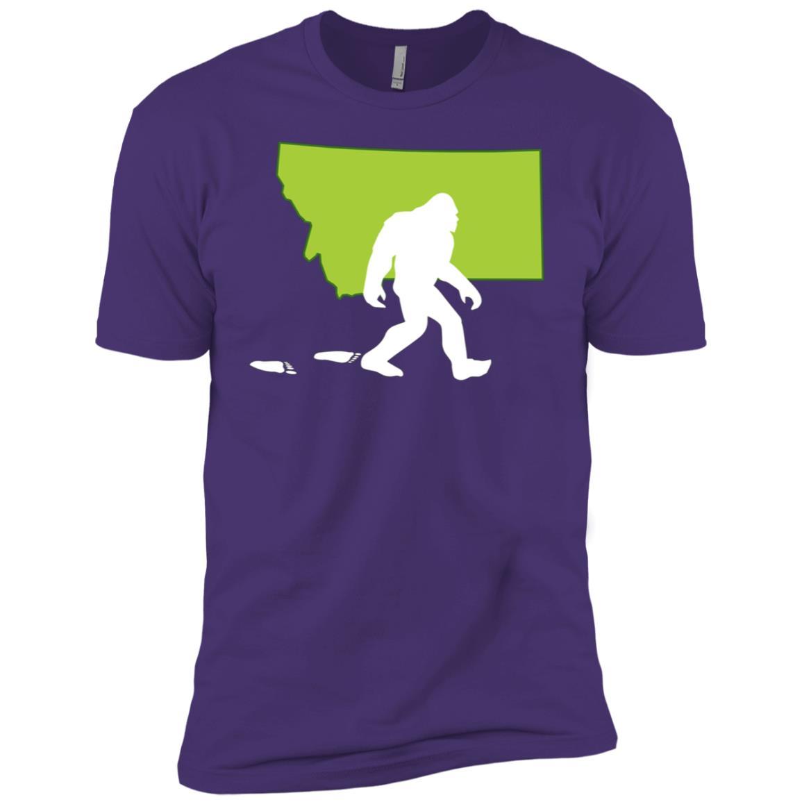 Montana State Bigfoot Hunter Men Short Sleeve T-Shirt