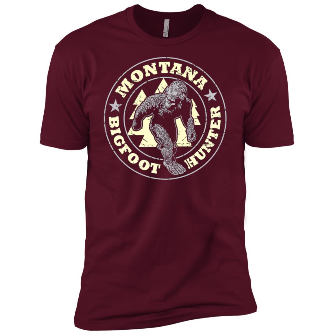 Montana Bigfoot Hunter Believe Men Short Sleeve T-Shirt