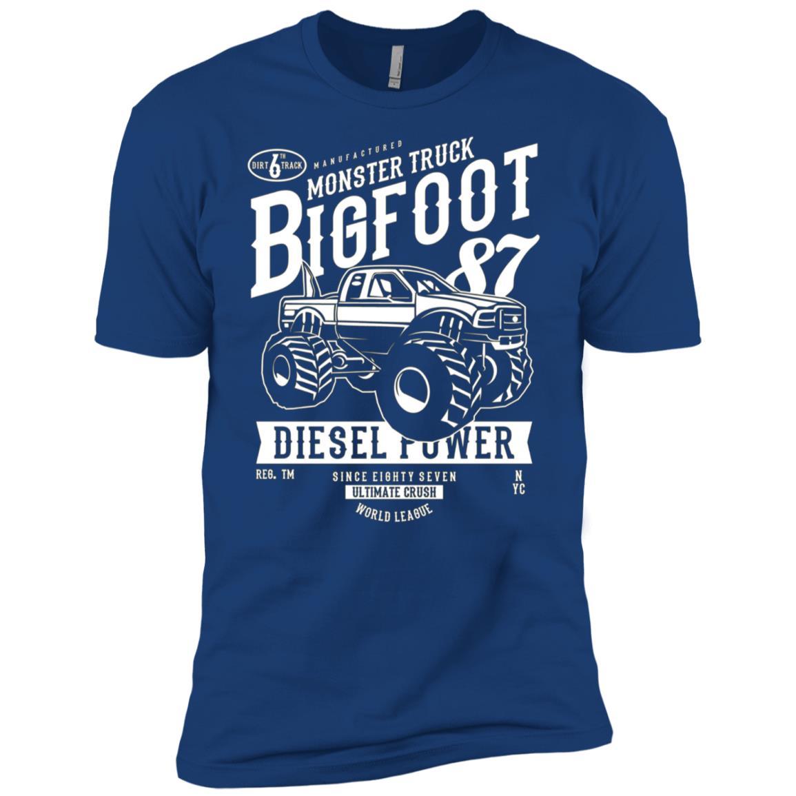 Monster truck Bigfoot Vintage Graphic Design Men Short Sleeve T-Shirt