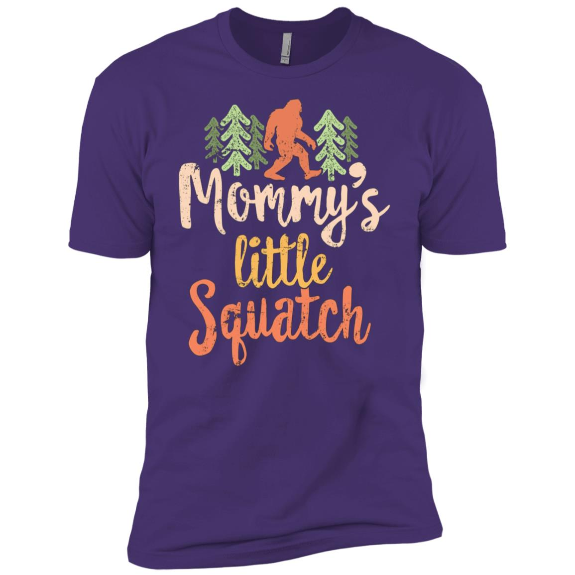 Mom Family Hiking for Kid Bigfoot Squatch Men Short Sleeve T-Shirt