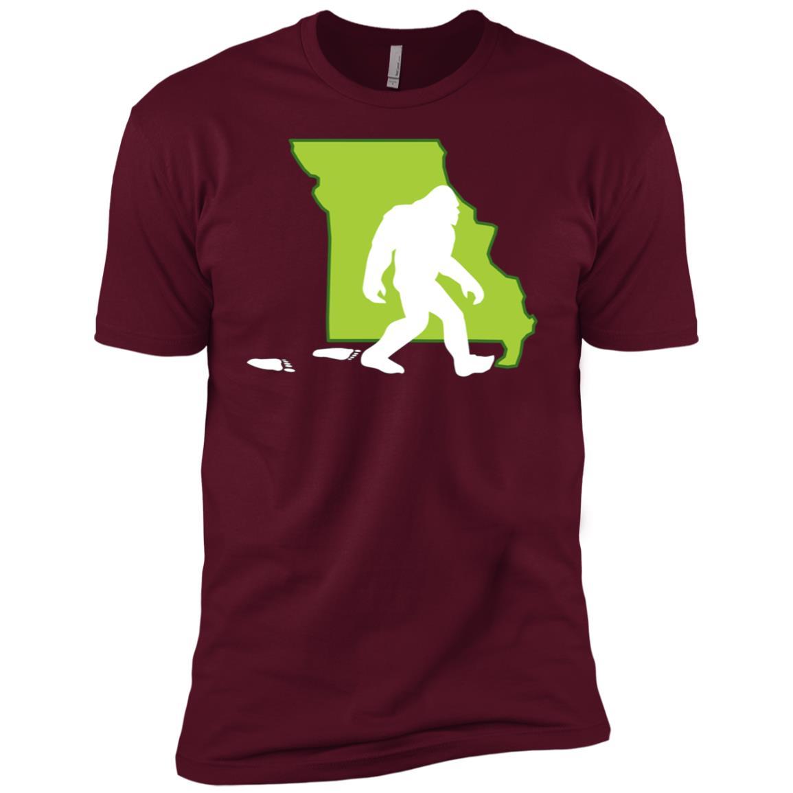 Missouri State Bigfoot Hunter Men Short Sleeve T-Shirt