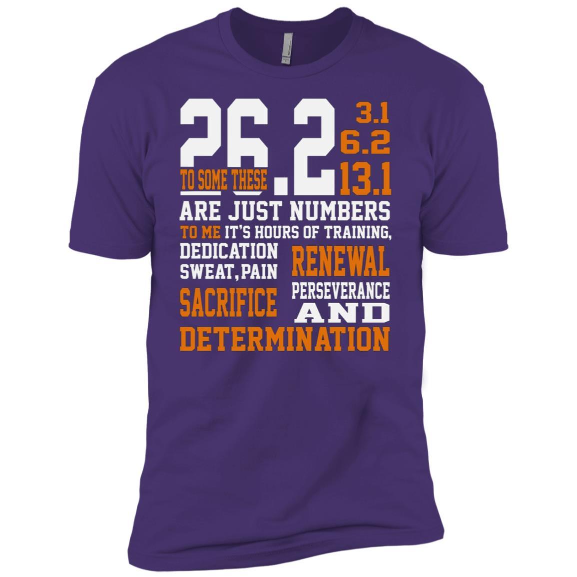 Determination Running 26.2 Men Short Sleeve T-Shirt
