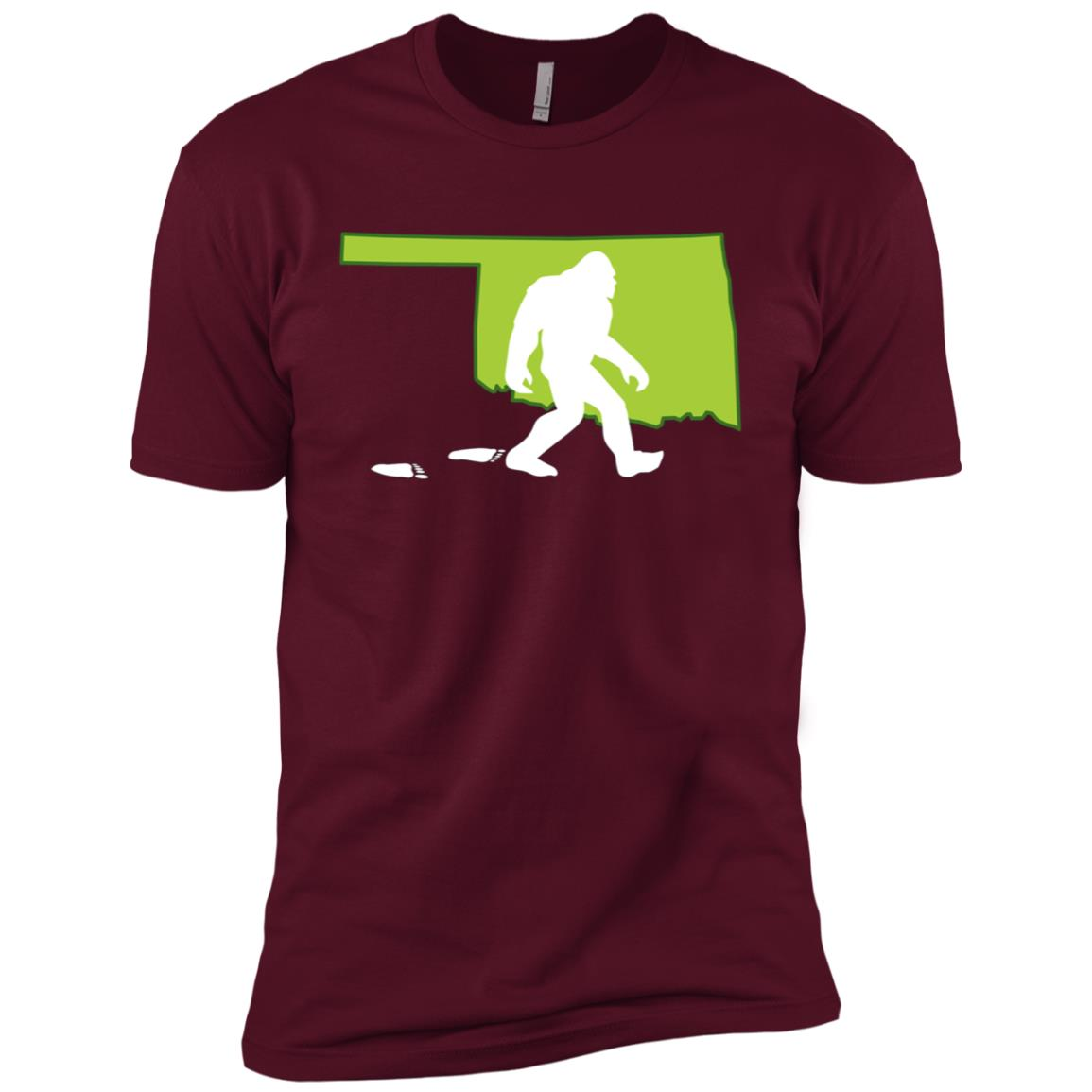 Oklahoma State Bigfoot Hunter Men Short Sleeve T-Shirt