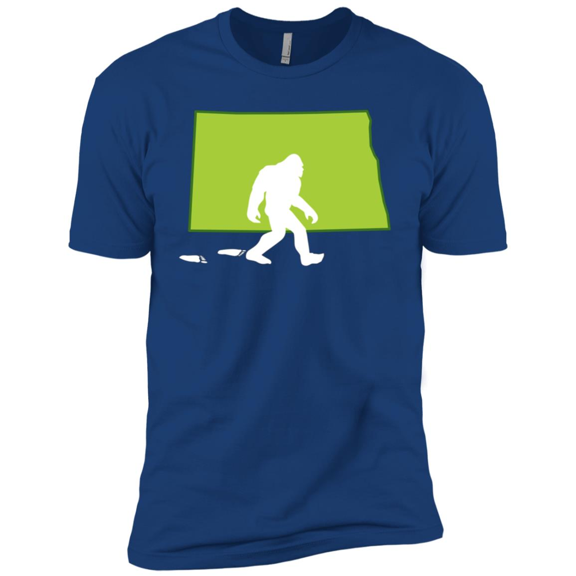 North Dakota State Bigfoot Hunter Men Short Sleeve T-Shirt
