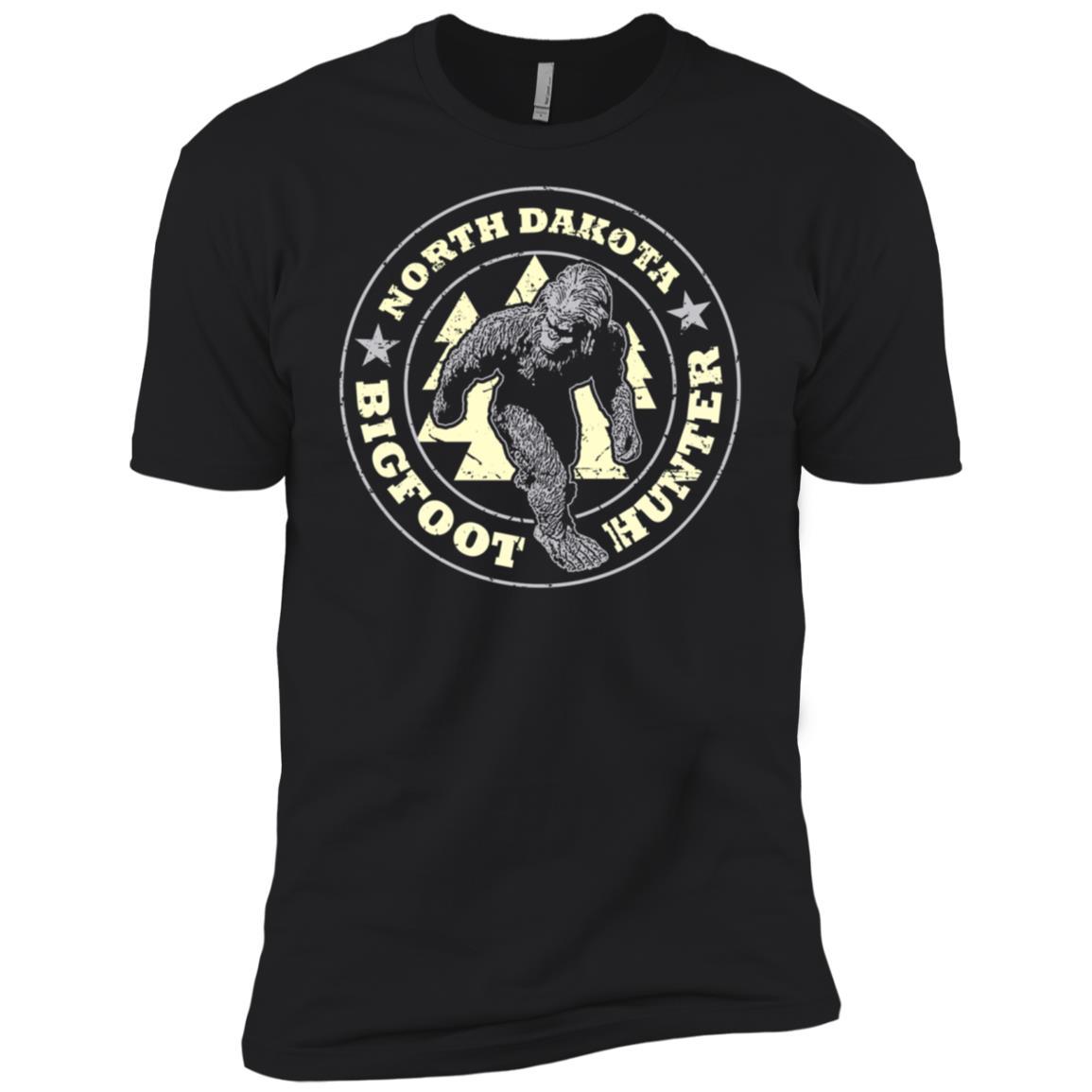 North Dakota Bigfoot Hunter Believe Men Short Sleeve T-Shirt