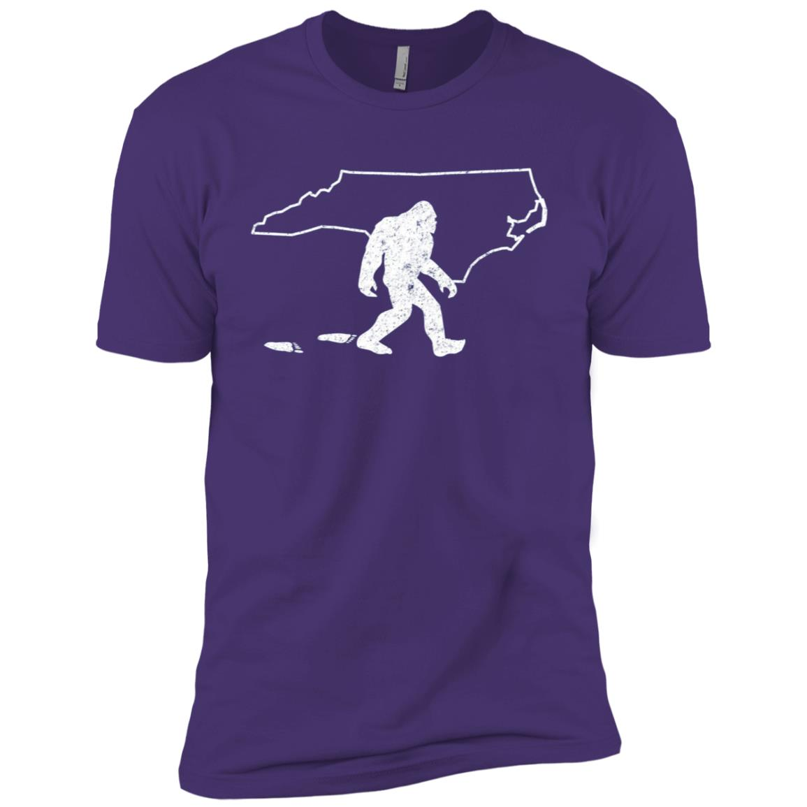 North Carolina State Pride Vintage Bigfoot Men Short Sleeve T-Shirt