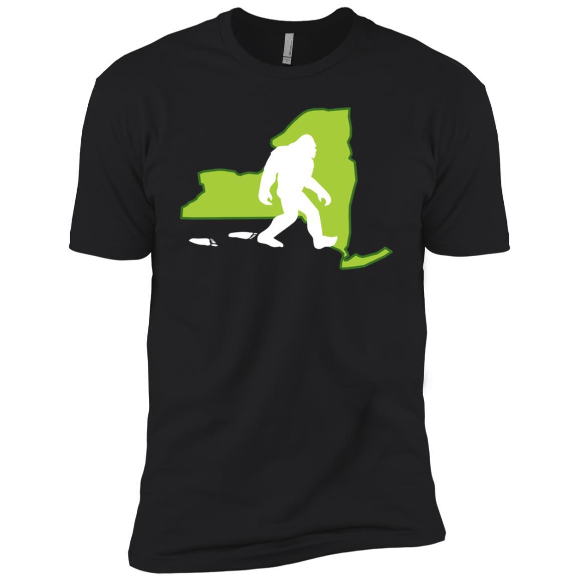 New York State Bigfoot Hunter Men Short Sleeve T-Shirt