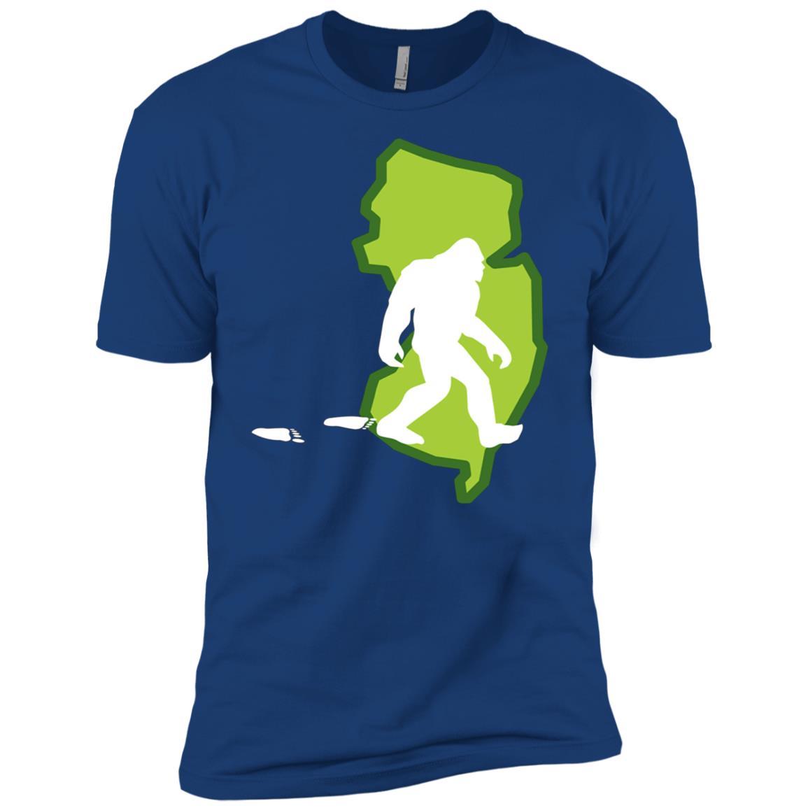 New Jersey State Bigfoot Hunter Men Short Sleeve T-Shirt