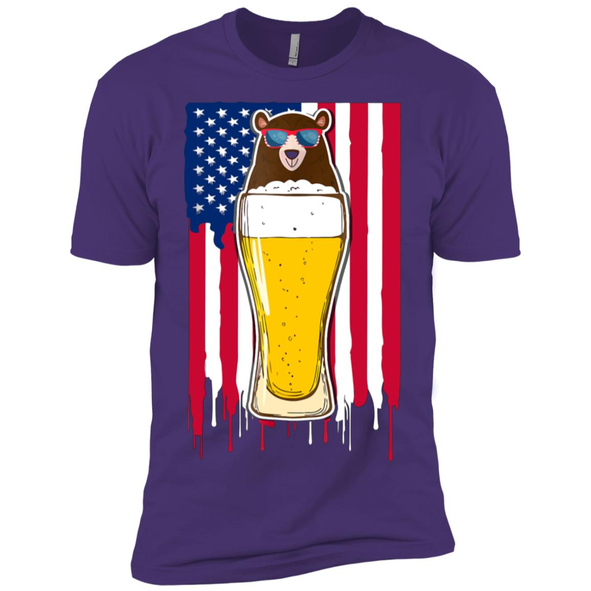 Pint Of Bear Funny 4th Of July Beer Lover Gift-1 Men Short Sleeve T-Shirt