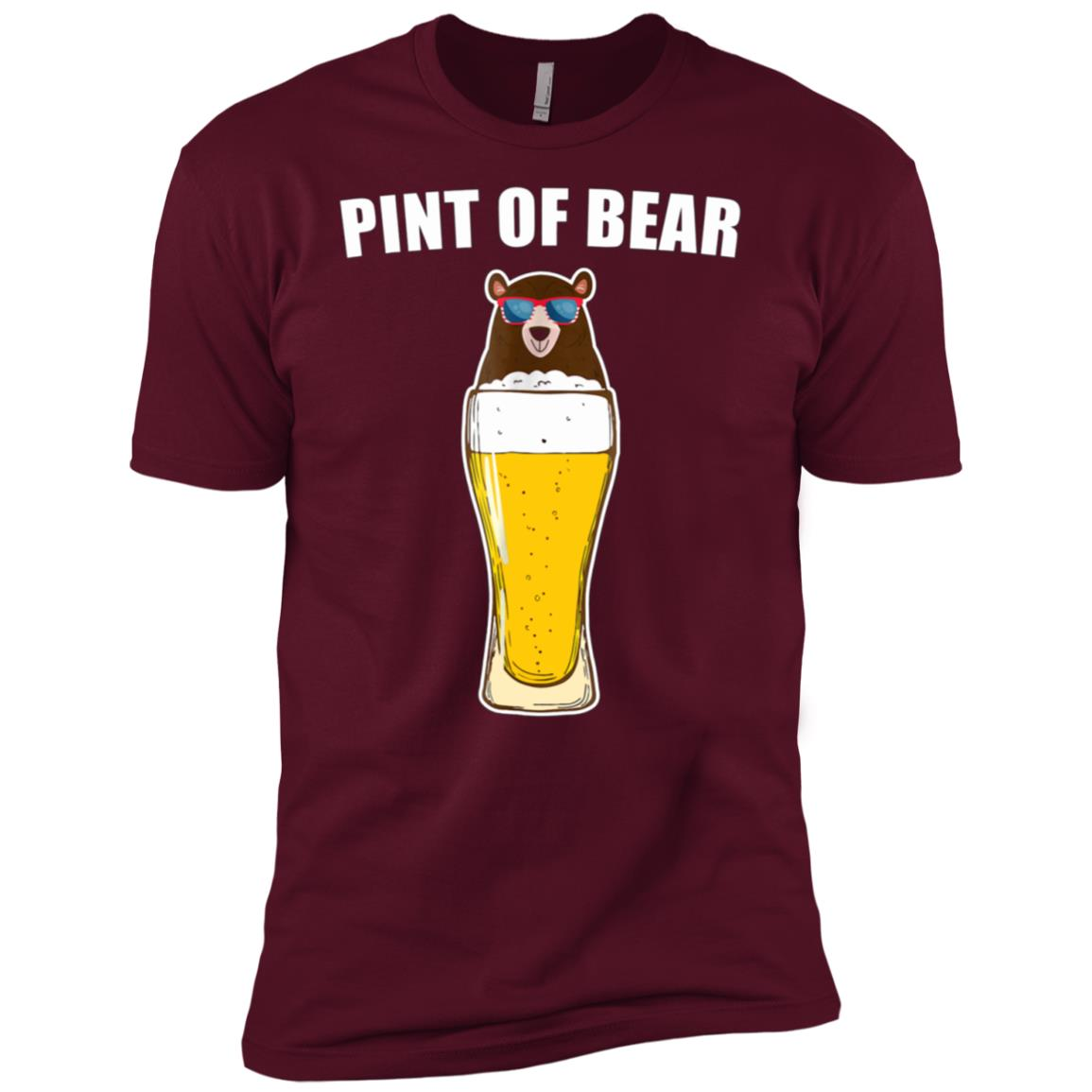 Pint Of Bear Funny 4th Of July Beer Lover Gift Men Short Sleeve T-Shirt