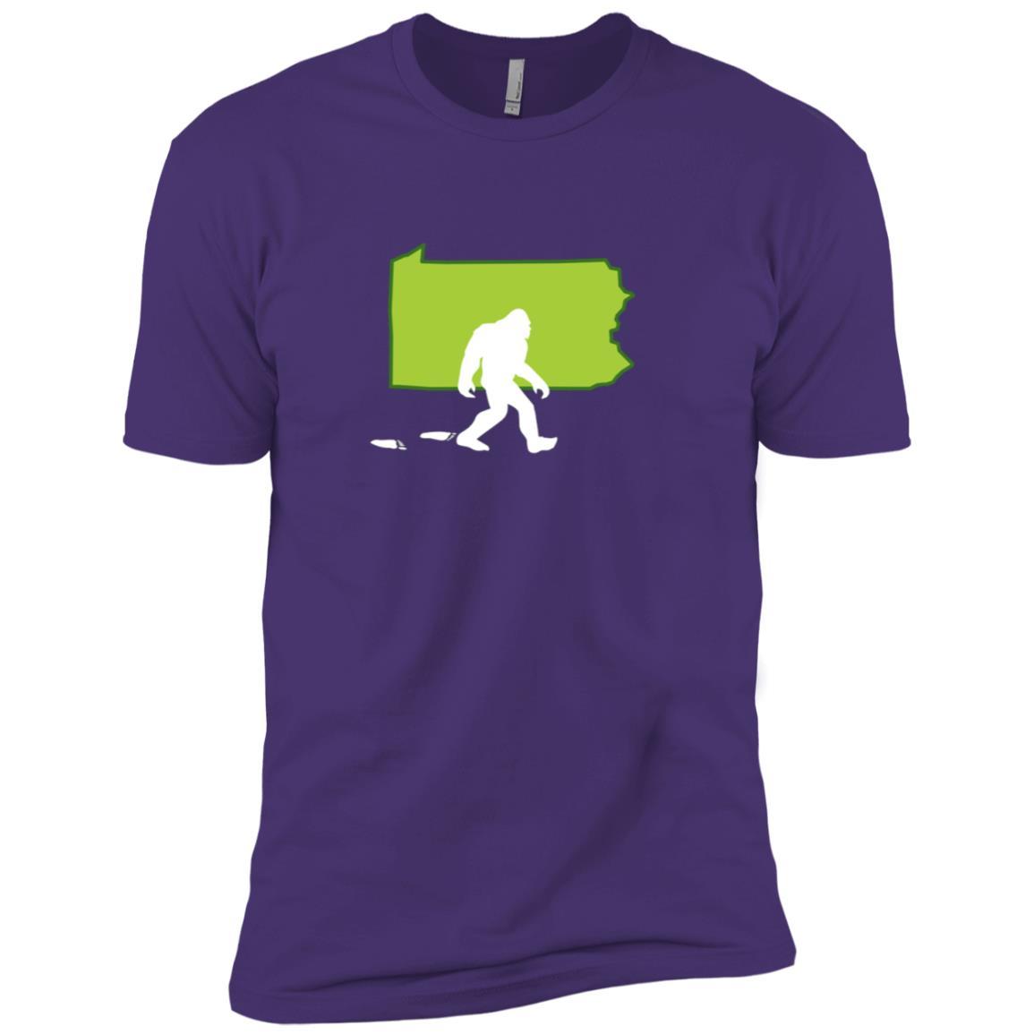 Pennsylvania State Bigfoot Hunter Men Short Sleeve T-Shirt