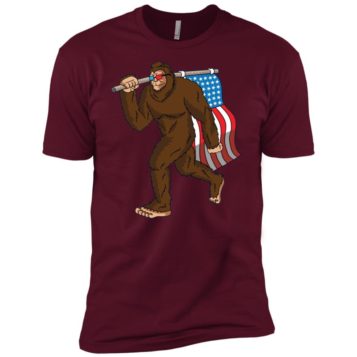 Patriotic Bigfoot USA Merica 4th of July -1 Men Short Sleeve T-Shirt