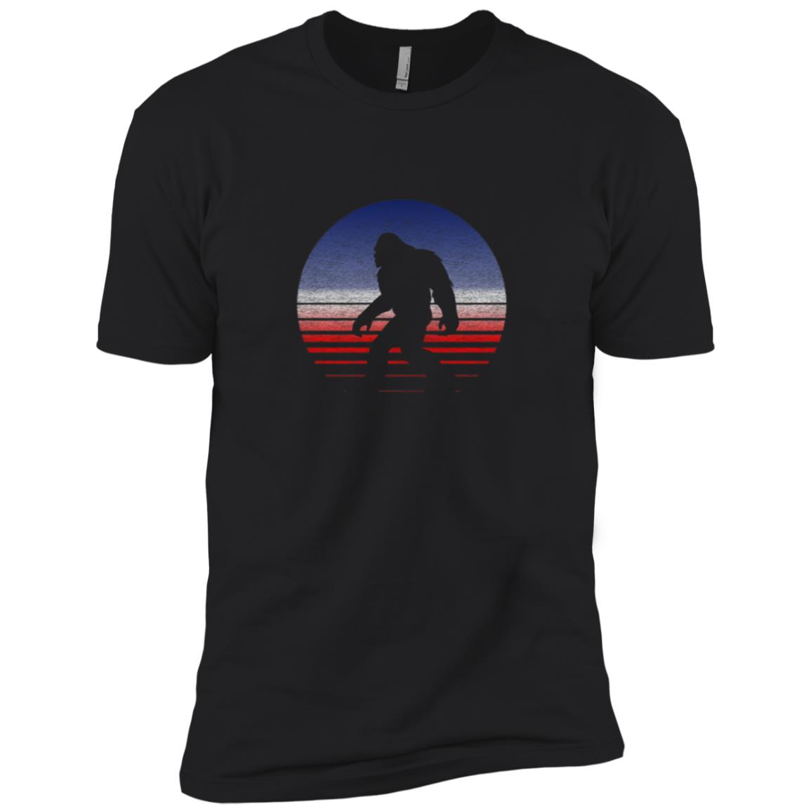 Patriotic Bigfoot – Fun Independence Day Men Short Sleeve T-Shirt