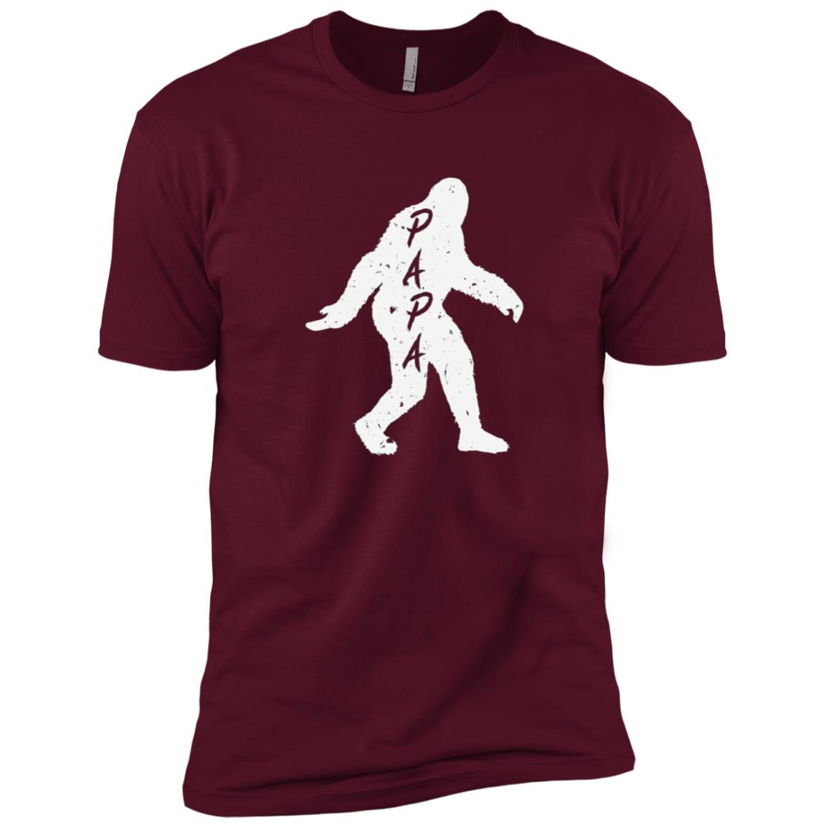 Papa Bigfoot Sasquatch Yeti Fathers Day Gift Tee Men Short Sleeve T-Shirt