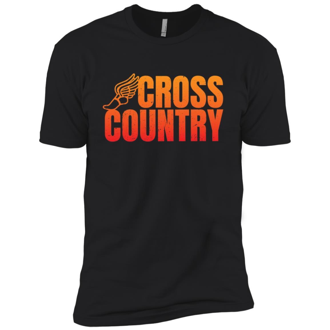 Cool Funny Cross Country Running Gift for Runners Men Short Sleeve T-Shirt