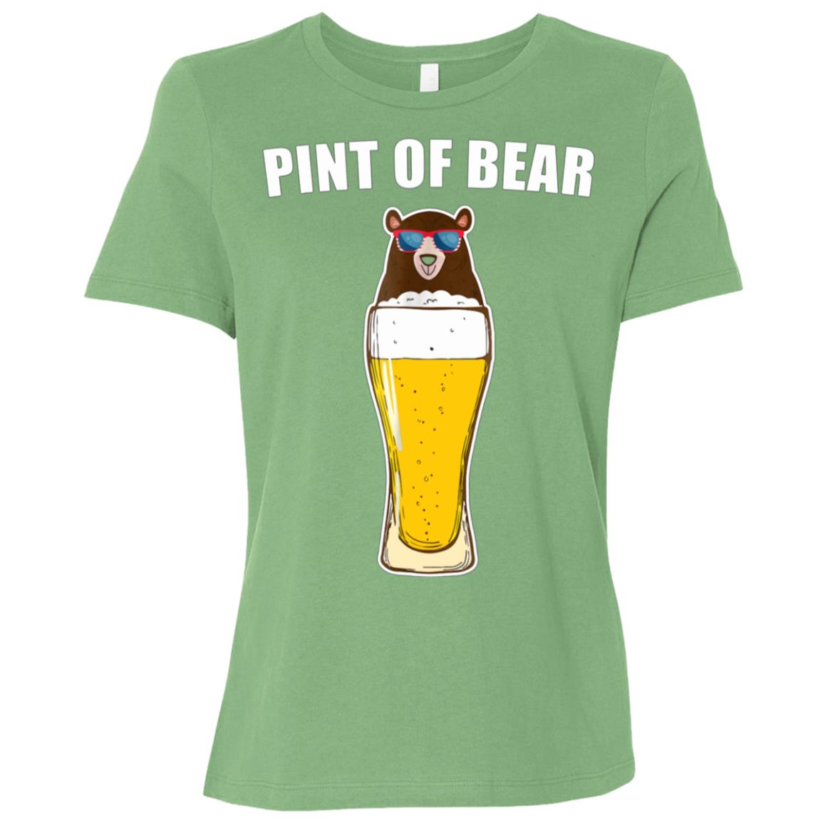 Pint Of Bear Funny 4th Of July Beer Lover Gift Women Short Sleeve T-Shirt