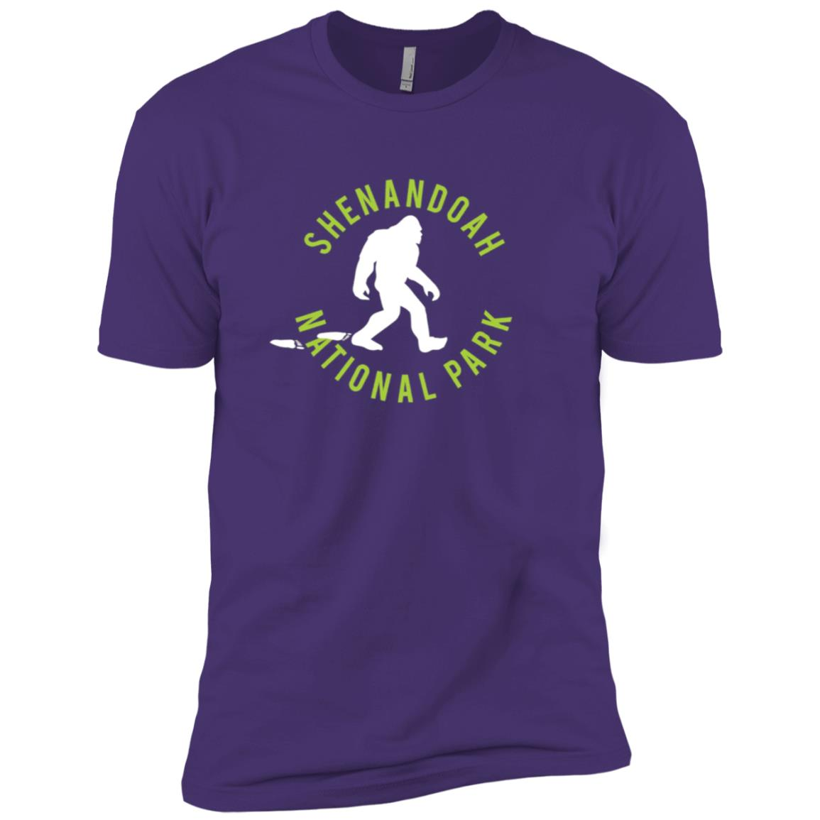 Shenandoah National Park Bigfoot Men Short Sleeve T-Shirt