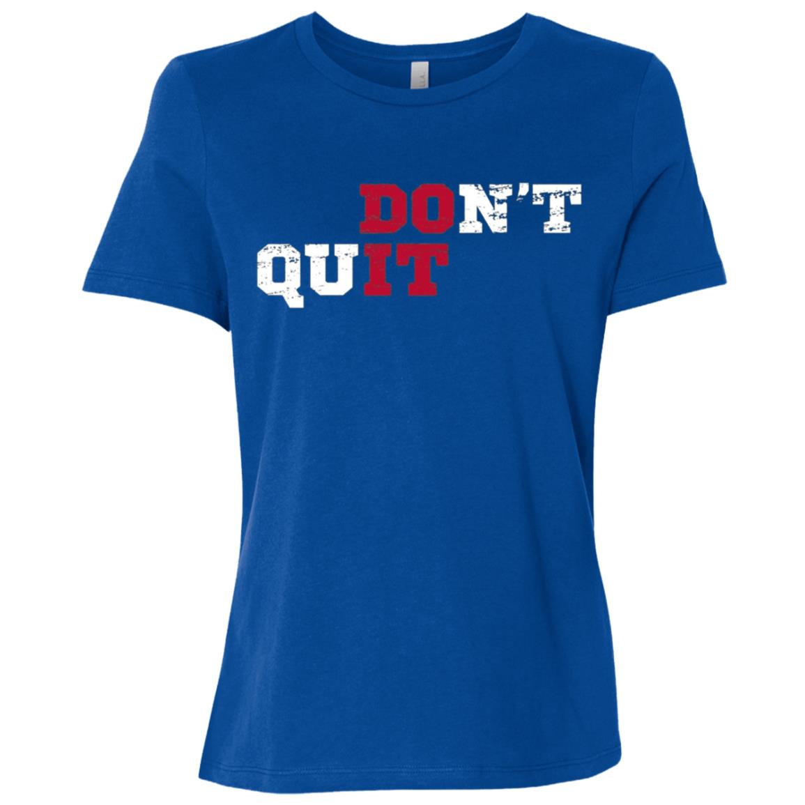 Don't Quit Do It Distressed Vintage Gym Running Women Short Sleeve T-Shirt