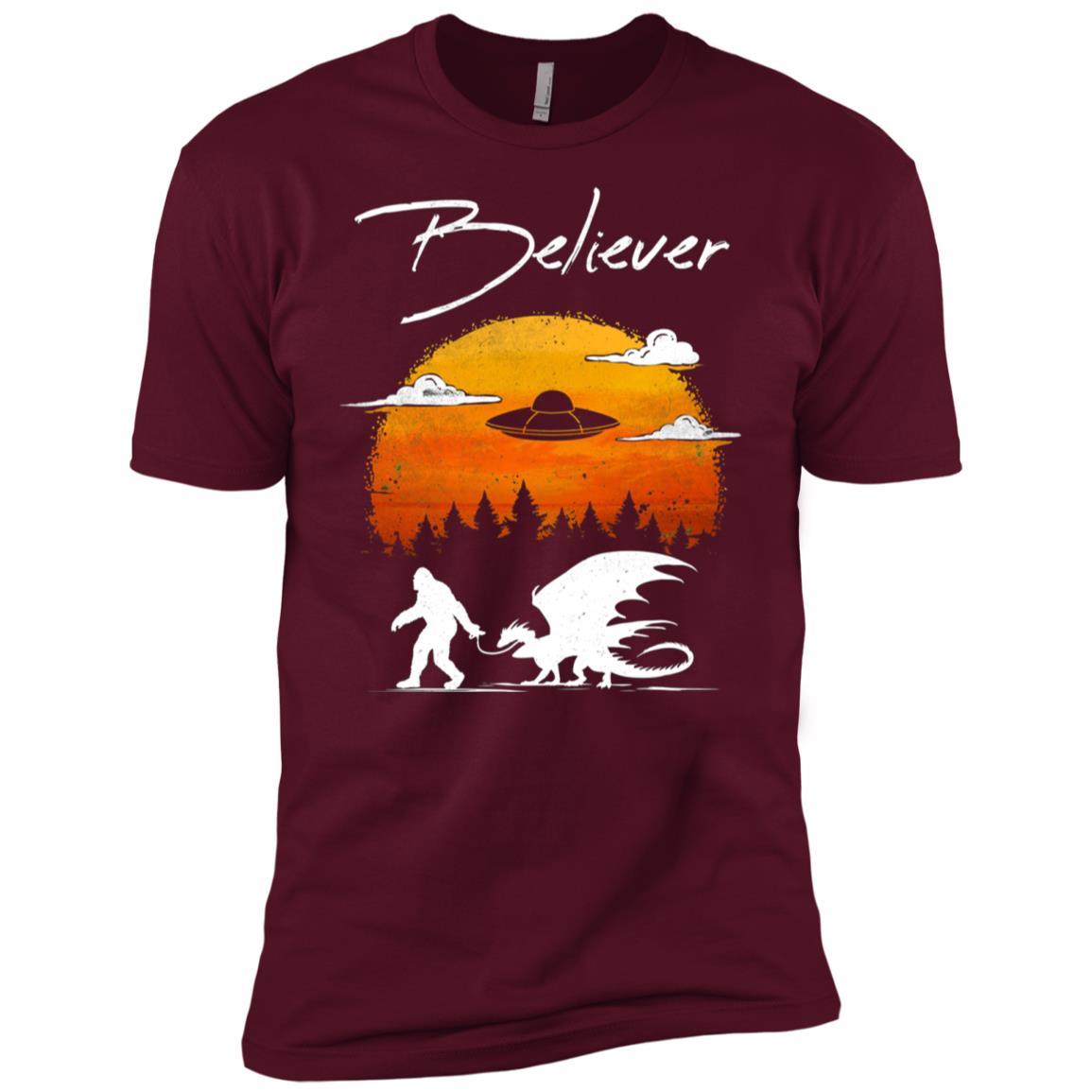 Sasquach Dragon UFO Believer Epic Men Short Sleeve T-Shirt