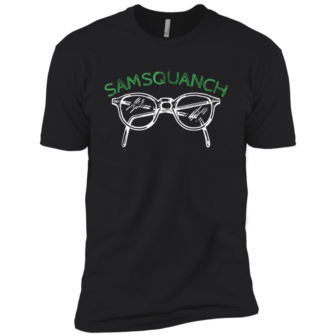 Samsquanch Funny Looking Glasses Bigfoot Men Short Sleeve T-Shirt