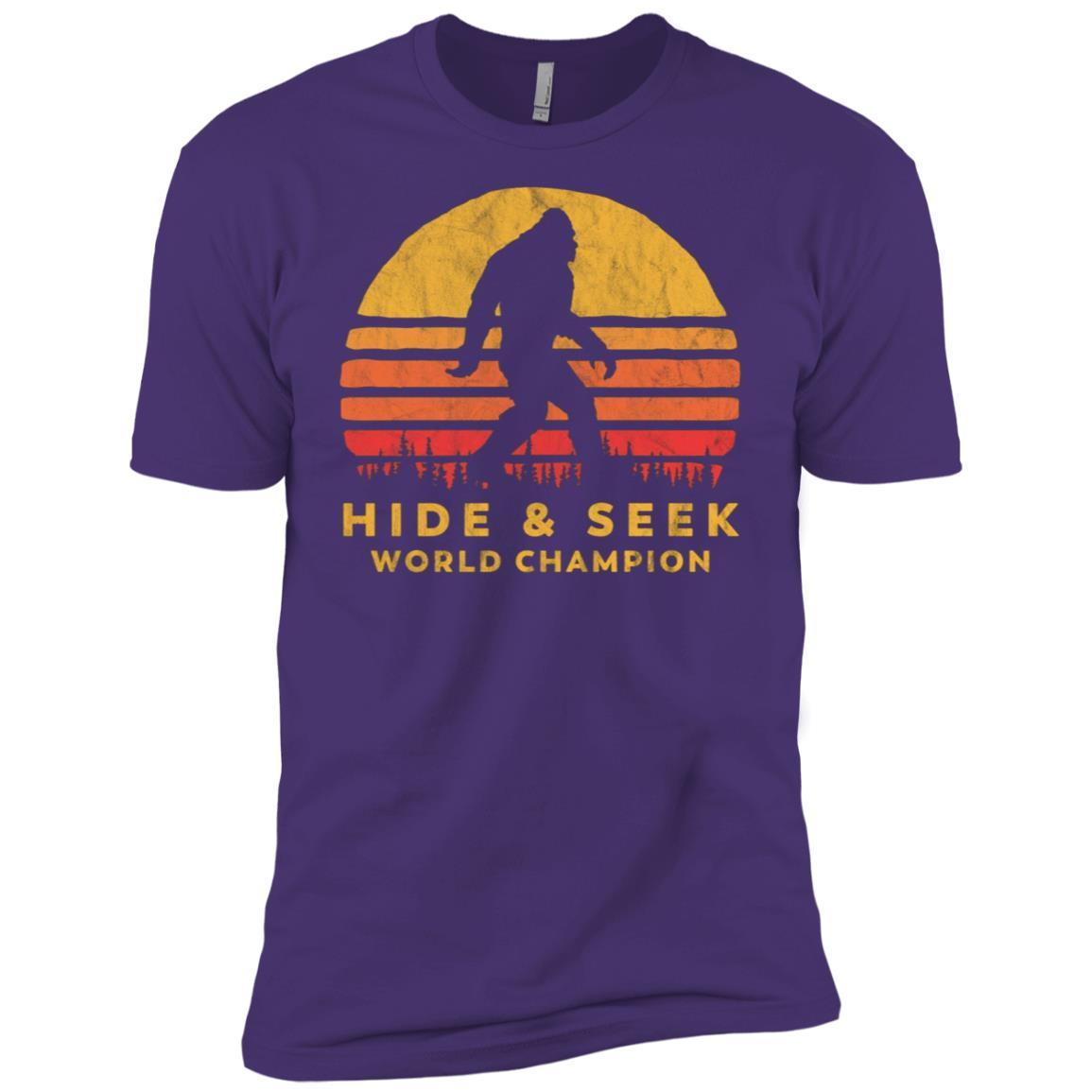 Retro Hide & Seek World Champ Bigfoot Sun Tee – Believe! Men Short Sleeve T-Shirt