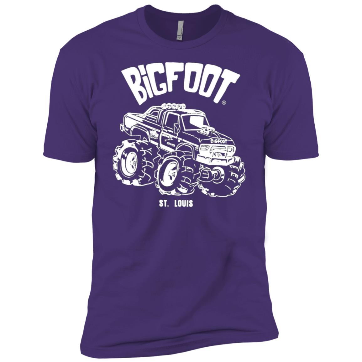 Retro Cartoon BIGFOOT Men Short Sleeve T-Shirt