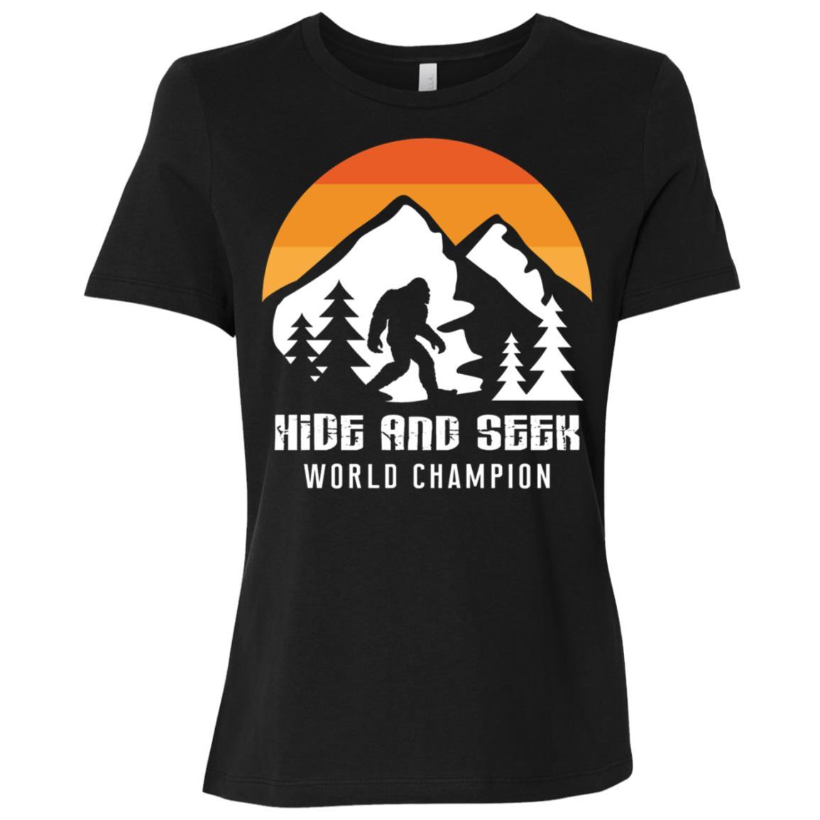 Retro Hide And Seek World Champion Bigfoot Women Short Sleeve T-Shirt