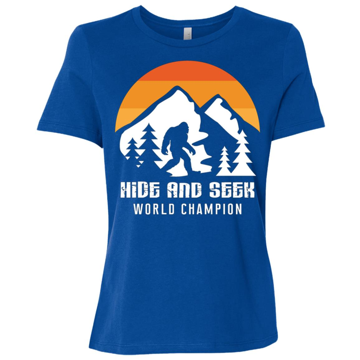 Retro Hide And Seek World Champion Bigfoot Women Short Sleeve T-Shirt