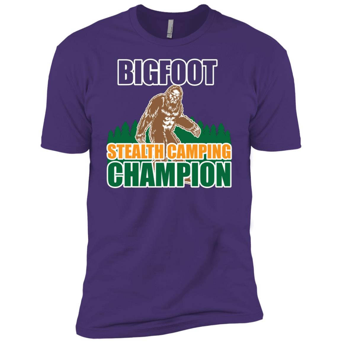 Stealth Camping Champion Bigfoot Men Short Sleeve T-Shirt