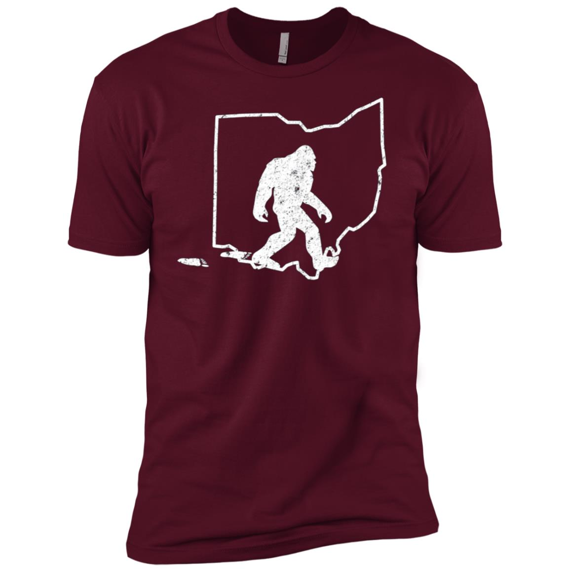 State of Ohio Vintage Pride Bigfoot Hunter Men Short Sleeve T-Shirt