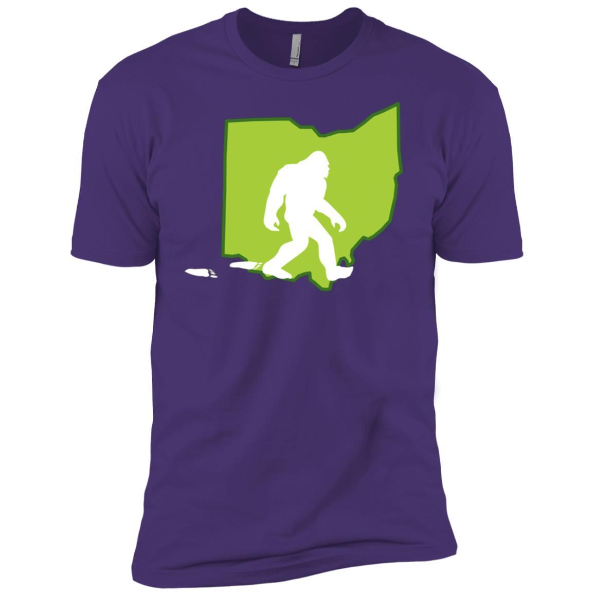 State Of Ohio Bigfoot Hunter Men Short Sleeve T-Shirt