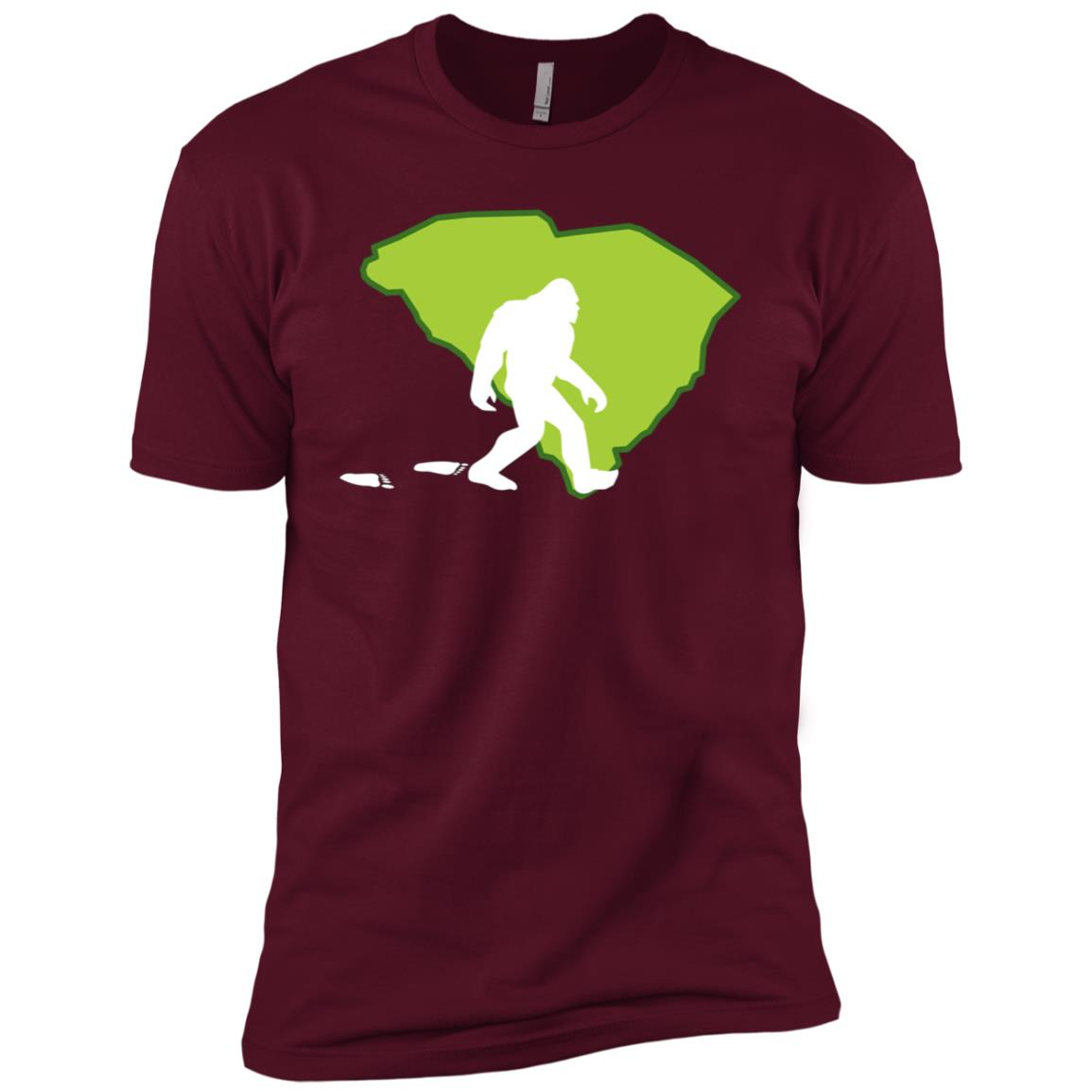South Carolina State Bigfoot Hunter Men Short Sleeve T-Shirt