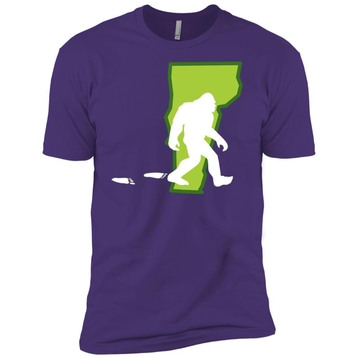 Vermont State Bigfoot Hunter Men Short Sleeve T-Shirt