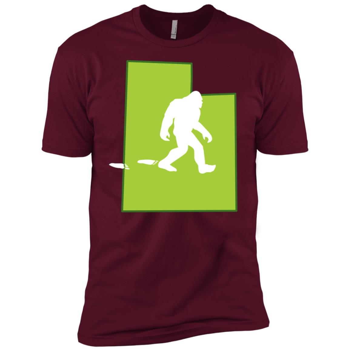 Utah State Bigfoot Hunter Men Short Sleeve T-Shirt
