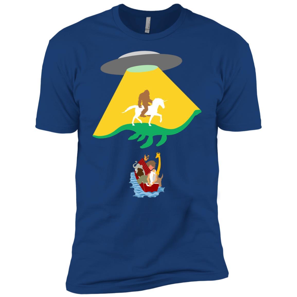 UFO Unicorn Bigfoot , Noahs Ark Gift Men Short Sleeve T-Shirt