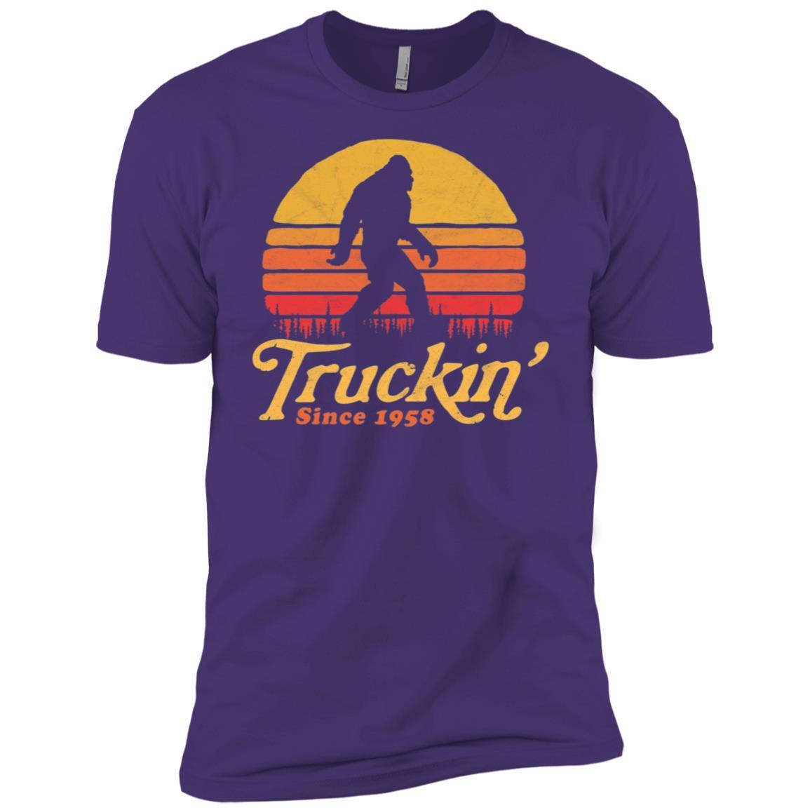 Truckin' Since 1958 Bigfoot 60th Birthday Men Short Sleeve T-Shirt