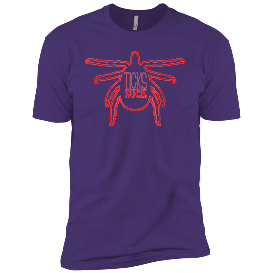 Ticks Suck; Funny Parasite Camping For Campers Men Short Sleeve T-Shirt